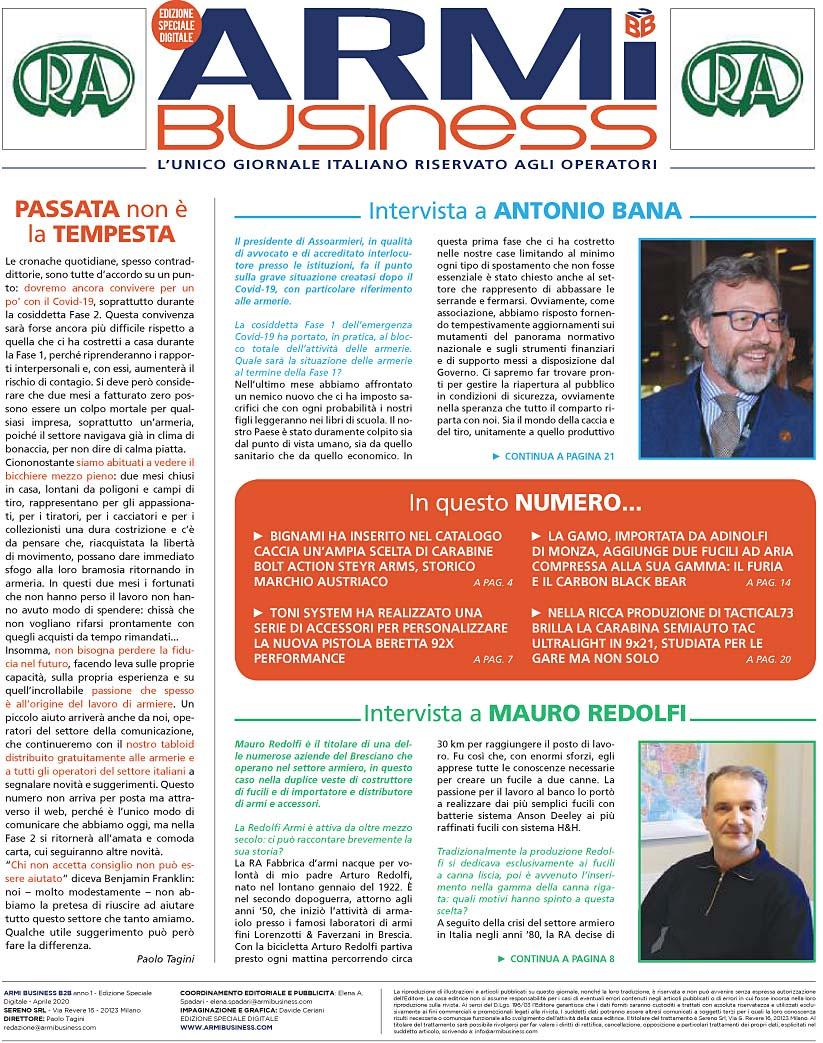 Armi.B2B Businessa - aprile 2020
